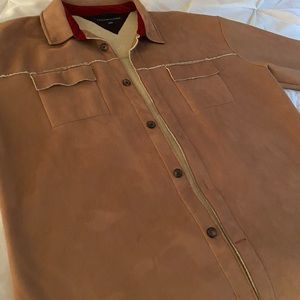 Tommy Hilfiger suede jacket with Sherpa lining